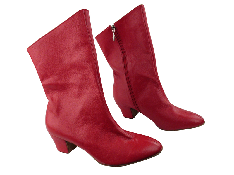 VFBoot PP205A Ankle Bootie Red Leather with 1.6