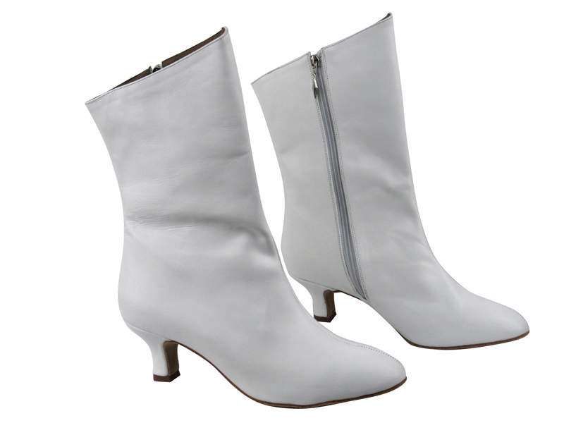 VFBoot PP205A Ankle Bootie White Leather with 2