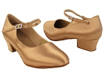 S9137 Tan Satin_1.5 inch Heel