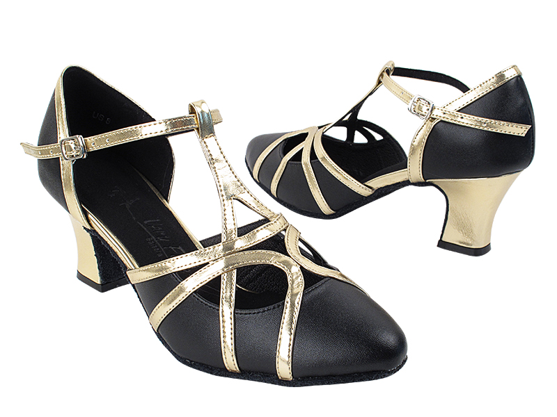 SERA3541 Black Leather & Light Gold Trim with 2.2