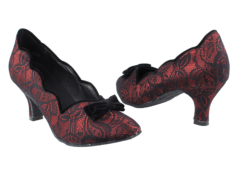 SERA5515 Red & Black Lace