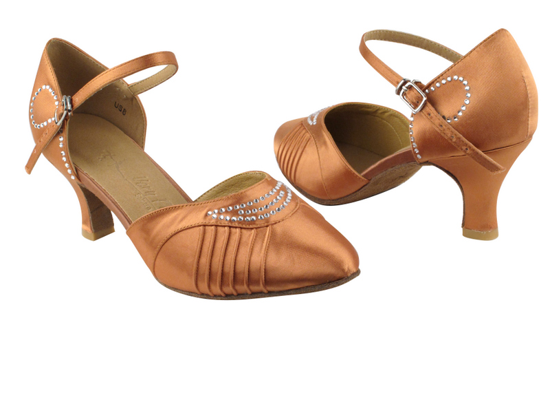 SERA1397 Tan Satin with 2.5