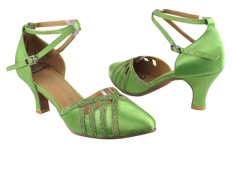 SERA3530 Green Satin & Green Stardust Trim with 2.5