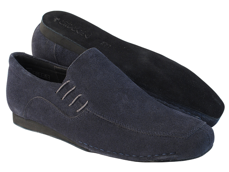 SERO102BBX Blue Old Navy Suede with flat heel in the photo