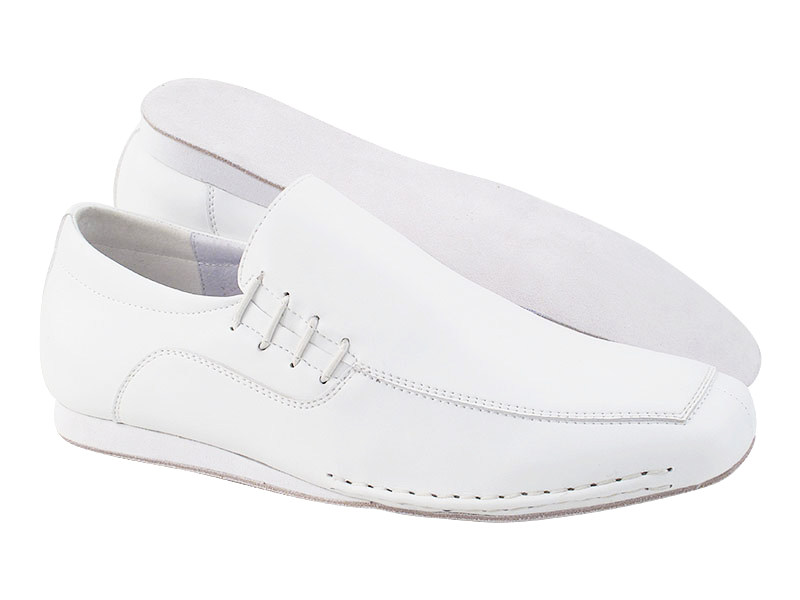 SERO102BBX White Leather with flat heel in the photo