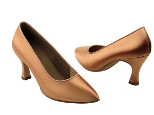 "C6901 Tan Satin with 2.75"" heel in the photo"