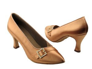 "C6904 Tan Satin with 2.75"" heel in the photo"
