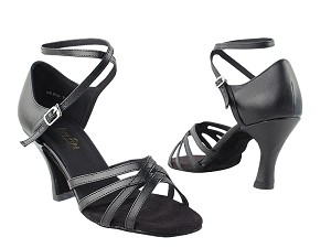 "1606 Black Leather with 3"" Heel in the photo"
