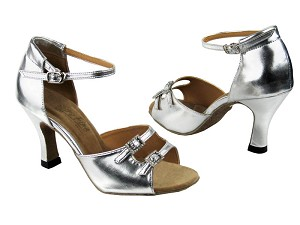 "1620 Silver Leather with 3"" Heel in the photo"