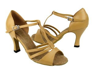 "1683 Beige Brown Leather with 3"" Heel in the photo"