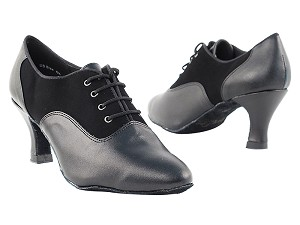 "1688 Black Nubuck & Black Leather with 2.5"" low heel in the photo"