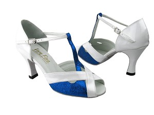 2703 Blue Stardust & White Patent