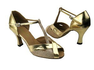 "2703 Gold Stardust & Gold with 3"" Heel in the photo"