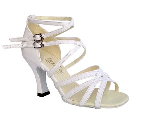 "5008 White Leather with 3"" Heel in the photo"