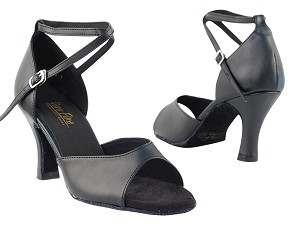 "6012 Black Leather with 3"" Heel in the photo"