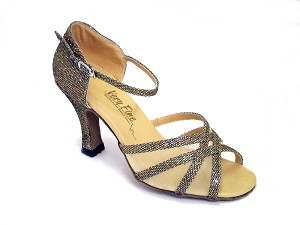 "6027 Gold Scale & Flesh Mesh with 3"" Heel in the photo"
