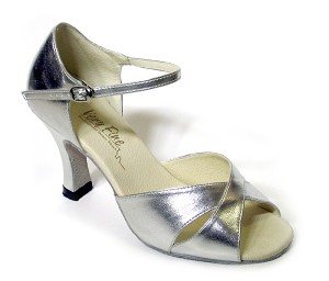 "6029 Silver Leather with 3"" Heel in the photo"