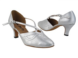 "9693LEDSS Soft Silver with 2.5"" low heel in the photo"