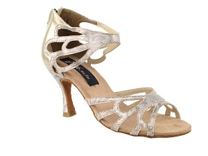"CD3027 Beige Snake with 3"" Flare heel in the photo"