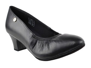 "CD5013DB Black Leather with 2"" Medium Heel in the photo"