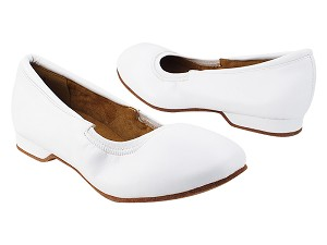 ProComfort20 White Leather with flat EVA heel in the photo