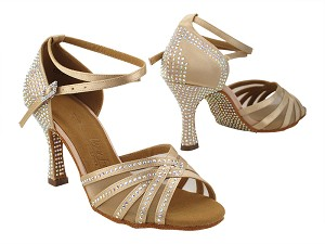 S1015CC 283 Light Brown Satin with (YQG) 3 inch Heel in the photo