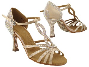 S1016CC 283 Light Brown Satin with (YQG) 3 inch Heel in the photo