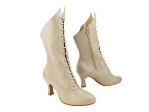 "VFBoot SERACanCan Beige Leather with 2.5"" Heel (PG) in the photo"