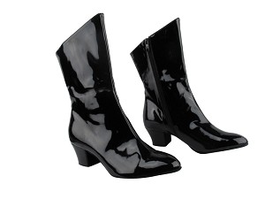 VFBoot PP205A Ankle Boot Black Patent