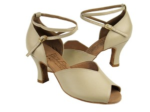 "S2801 Beige Leather with 2.5"" heel in the photo"