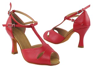 "S2803 Red Leather with 3"" Heel in the photo"