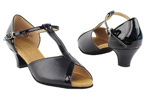 "S2804 Black_Black Patent Leather with 1.2"" Cuban Heel in the photo"