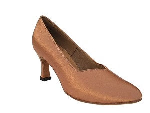 "S9106 Tan Satin with 2.75"" heel in the photo"