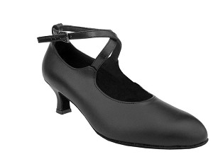 "S9120 Black Leather with 2"" Slim heel in the photo"