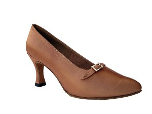 "S9133 Tan Satin with 2.75"" heel in the photo"