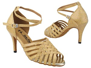 "2912LEDSS Gold Scale with 3.5"" STILETTO HEEL (575) in the photo"