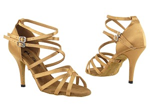 "5008LEDSS Brown Satin with 3.5"" Stiletto Heel in the photo"