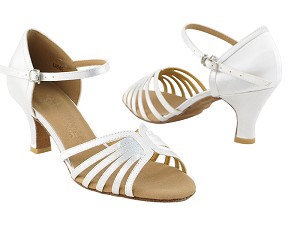 "SERA1135 Ivory Satin with 3"" heel in the photo"