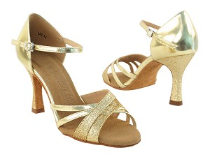 "SERA6030 Gold Stardust & Gold with 3"" heel in the photo"