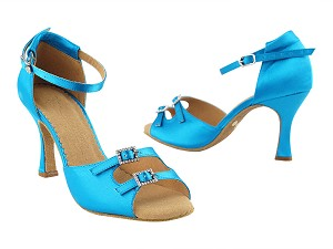 "SERA1620 Blue Satin with 3"" heel in the photo"
