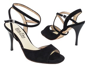 "VFTango 009 Black Suede with 3.5"" Stiletto Black Heel (TG1) in the photo"