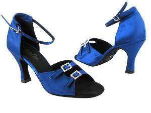 "1620 247 Gem Blue Satin with 3"" heel in the photo"