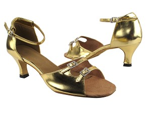 "1620 62 Gold Leather with 2.5"" Heel in the photo"
