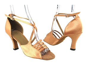 "1651 193 Tan Satin with 3"" Heel in the photo"