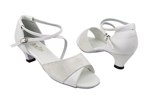 "1659 270 White Glitter_139 White PU with 1.3"" Cuban Heel in the photo"