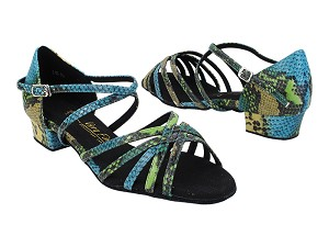 "1670FT 245 Blue Green Snake with 1"" Heel (8881) in the photo"