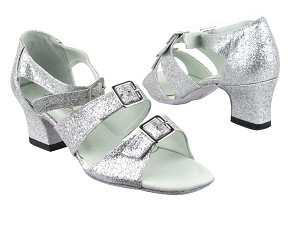 "1679 126 Silver Stardust with 2"" Thick Cuban Heel in the photo"