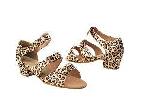 "1679 152 Leopard Satin with 1.5"" Medium heel in the photo"