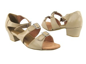 "1679 60 Tan Leather with 1.5"" Medium Heel in the photo"