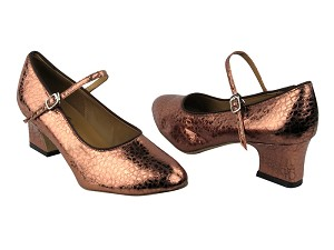 "1682 206 Ultra Copper with 2"" Thick Cuban Heel in the photo"